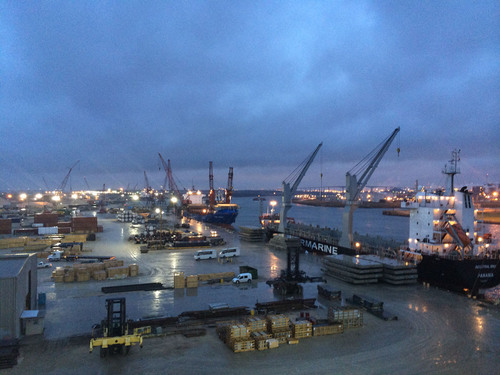 View of Industrial Terminal from the fourth floor of the Operations Center. (PRNewsFoto/Intermarine, LLC) ...