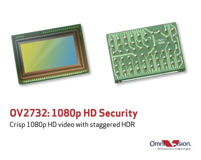 The OV2732 is the first low-power 1080p HD PureCel(R) image sensor for battery-powered security applications.