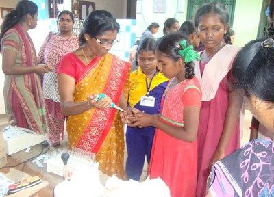 Anemia Screenings by WomenStrong and Dhan Foundation saves lives in southern India.
