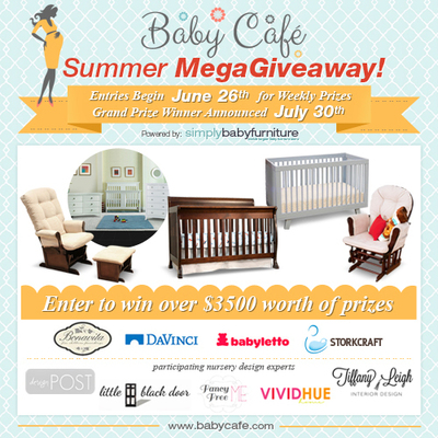 Baby Cafe MegaGiveaway - Win Over $3500 in Premium Nursery Furniture at BabyCafe.com.  (PRNewsFoto/eChannel Solutions Inc.)