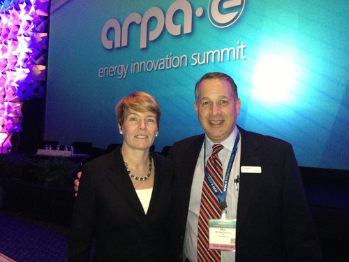 Dr. Cheryl Martin, acting Director of ARPA-E and CEO of ThermoLift, Inc. Paul Schwartz.  (PRNewsFoto/ThermoLift Inc.)