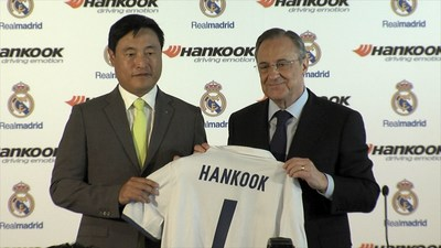 Hankook Tire and Real Madrid Today Officially Signed Their Contract of Global Partnership at Santiago Bernabéu Stadium