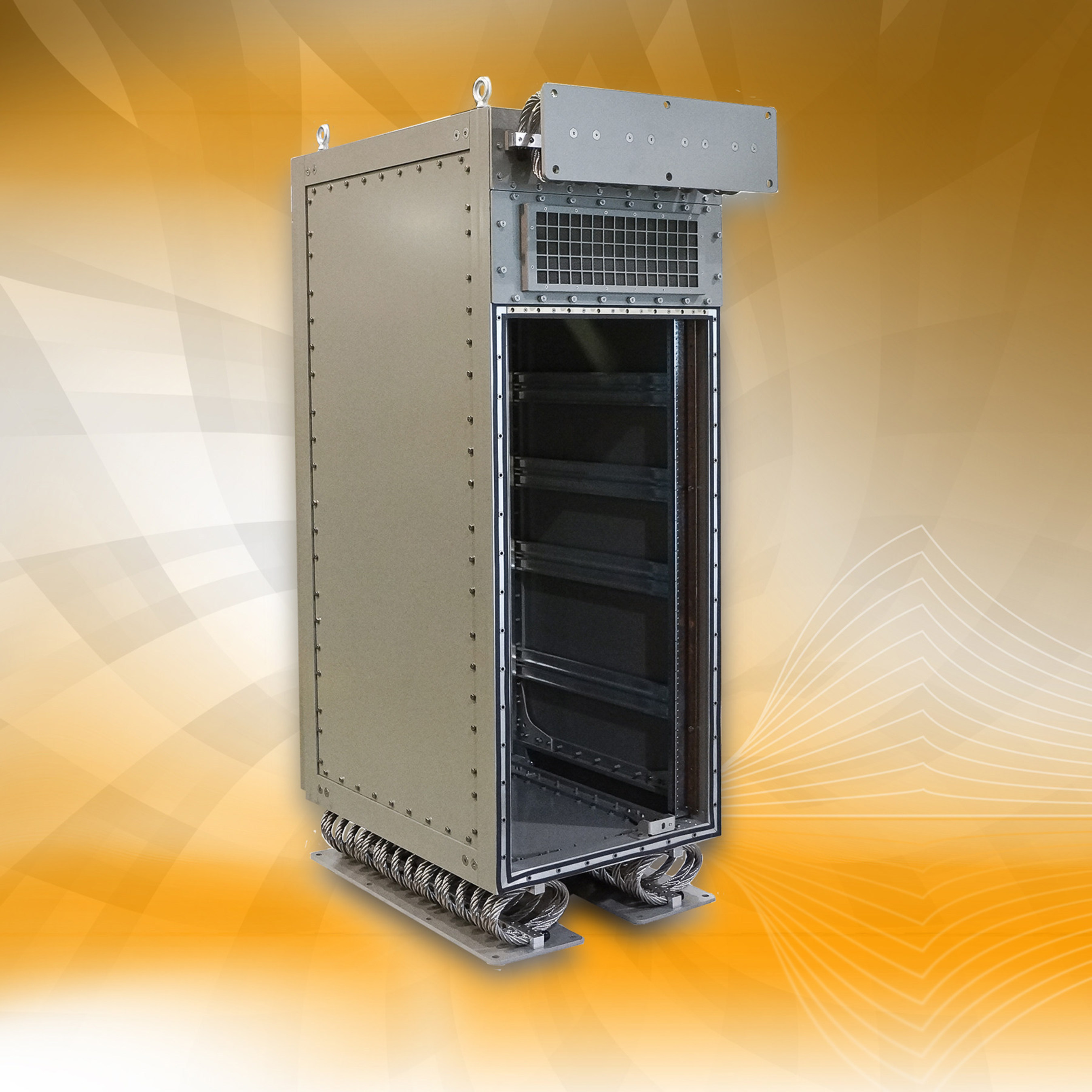 Weld-Free, Rugged Cabinet from Optima Offers Longer Structural Integrity. (PRNewsFoto/Elma Electronic Inc.)