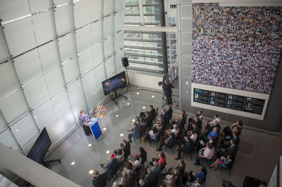 Kathleen Carroll, executive editor and senior vice president of The Associated Press gives the keynote speech at the 2014 Journalists Memorial rededication ceremony at the Newseum. Maria Bryk/Newseum