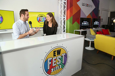 Marc Snetiker (L) and Chilina Kennedy speak during Entertainment Weekly's first ever