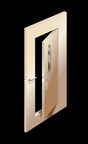ASSA ABLOY Behavioral Health Patient Room Access Door.  (PRNewsFoto/ASSA ABLOY Door Group)
