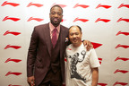 LI-NING Company founder Mr. Li Ning (right) and Dwyane Wade (left) appear at an October 10, 2012 press conference in Beijing to announce their new partnership. (Photo credit: Bob Metelus/LI-NING).  (PRNewsFoto/LI-NING)