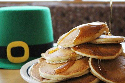 IHOP celebrates St. Patrick's Day.