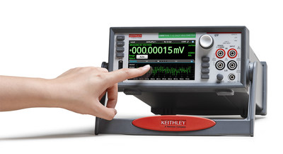 Keithley Instruments Model DMM7510 7 1/2-Digit Graphical Sampling Multimeter is the first of a new class of digital multimeters. It integrates a high accuracy digital multimeter, a digitizer for waveform capture, and a capacitive touchscreen user interface. The Model DMM7510 is designed to give users confidence in the accuracy of their results, the ability to explore measurements further, and intuitive touchscreen operation. Its user interface continues the company's