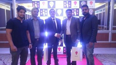 (From right to left) Anurag Pandey, Debashis Behera, Sujath Pasha, Bhabani Sankar Jena, and Sayed Wasim A (PRNewsFoto/FuGenX Technologies Pvt Ltd)