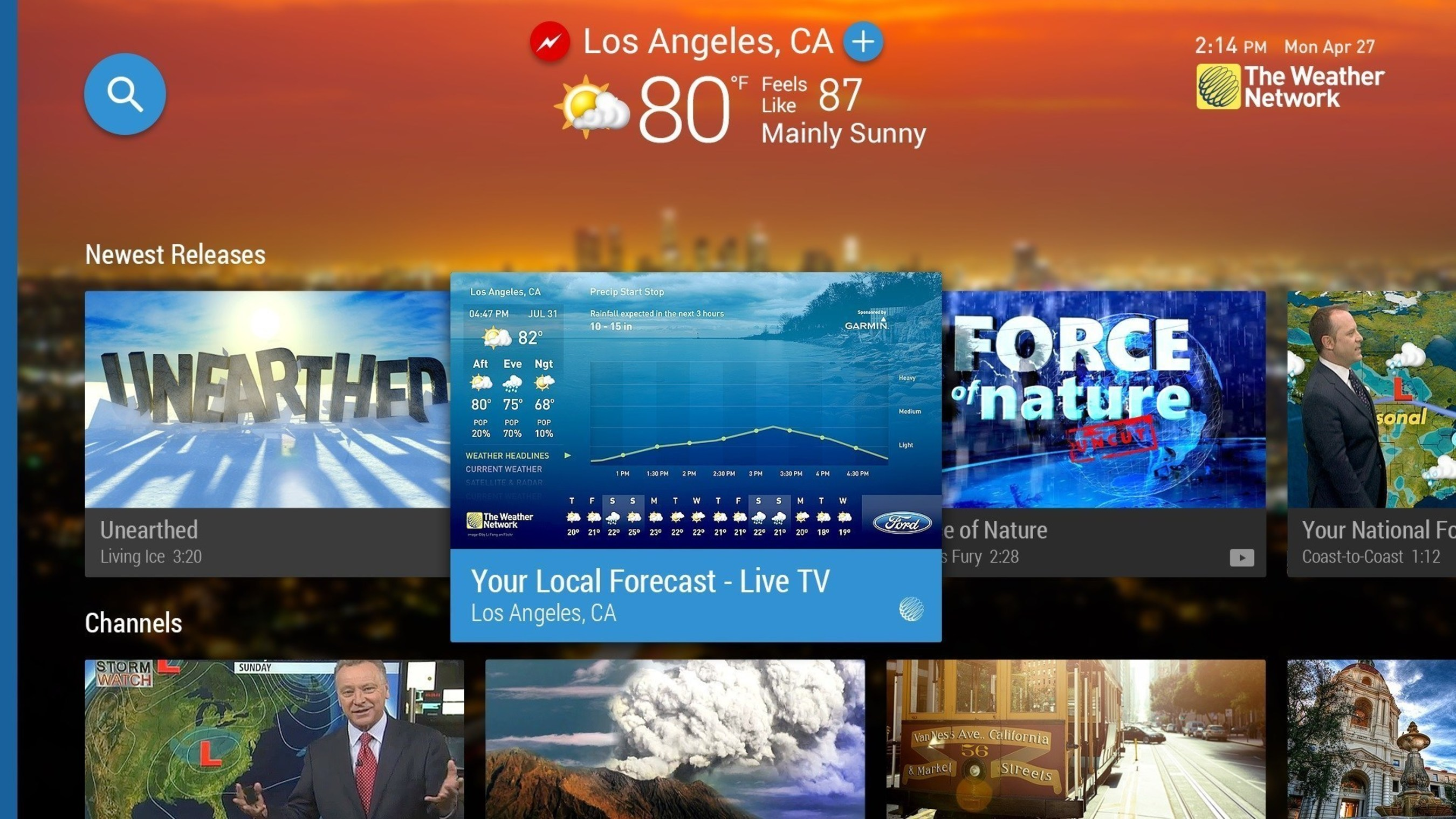 The Weather Network launches first ever live weather Android TV App channel