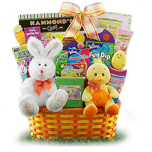 GiftBasketsOverseas.com offers delicious Easter Baskets for the kids. (PRNewsFoto/GiftBasketsOverseas.com) (PRNewsFoto/GIFTBASKETSOVERSEAS_COM)