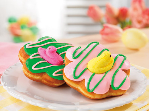 Dunkin' Donuts celebrates spring and PEEPSONALITY(R) with its first-ever donuts topped with PEEPS(R) ...