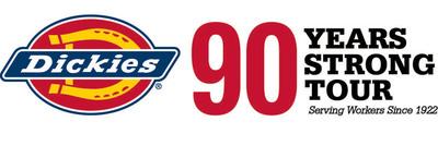 Dickies 90 Years Strong Tour Logo.  (PRNewsFoto/Williamson-Dickie Mfg. Co.)