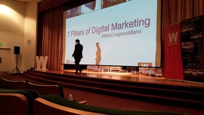 Arman Rousta 7 Pillars Talk @ WebCongress Miami 2013 (PRNewsFoto/Blueliner Marketing)
