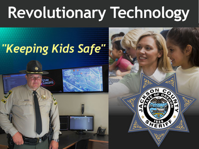 Jackson County, Oregon School District #9 is first in the nation to implement NEXARsos technology which helps keep students safe during threats or emergencies on school grounds.  (PRNewsFoto/Jackson County Sheriff's Office)