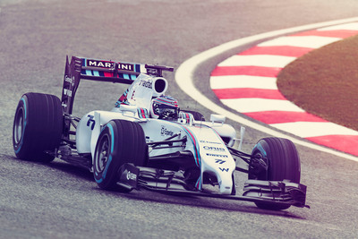 WILLIAMS MARTINI RACING unveils the new Williams Mercedes FW36 livery during the official team launch event. (PRNewsFoto/WILLIAMS MARTINI RACING) (PRNewsFoto/WILLIAMS MARTINI RACING)