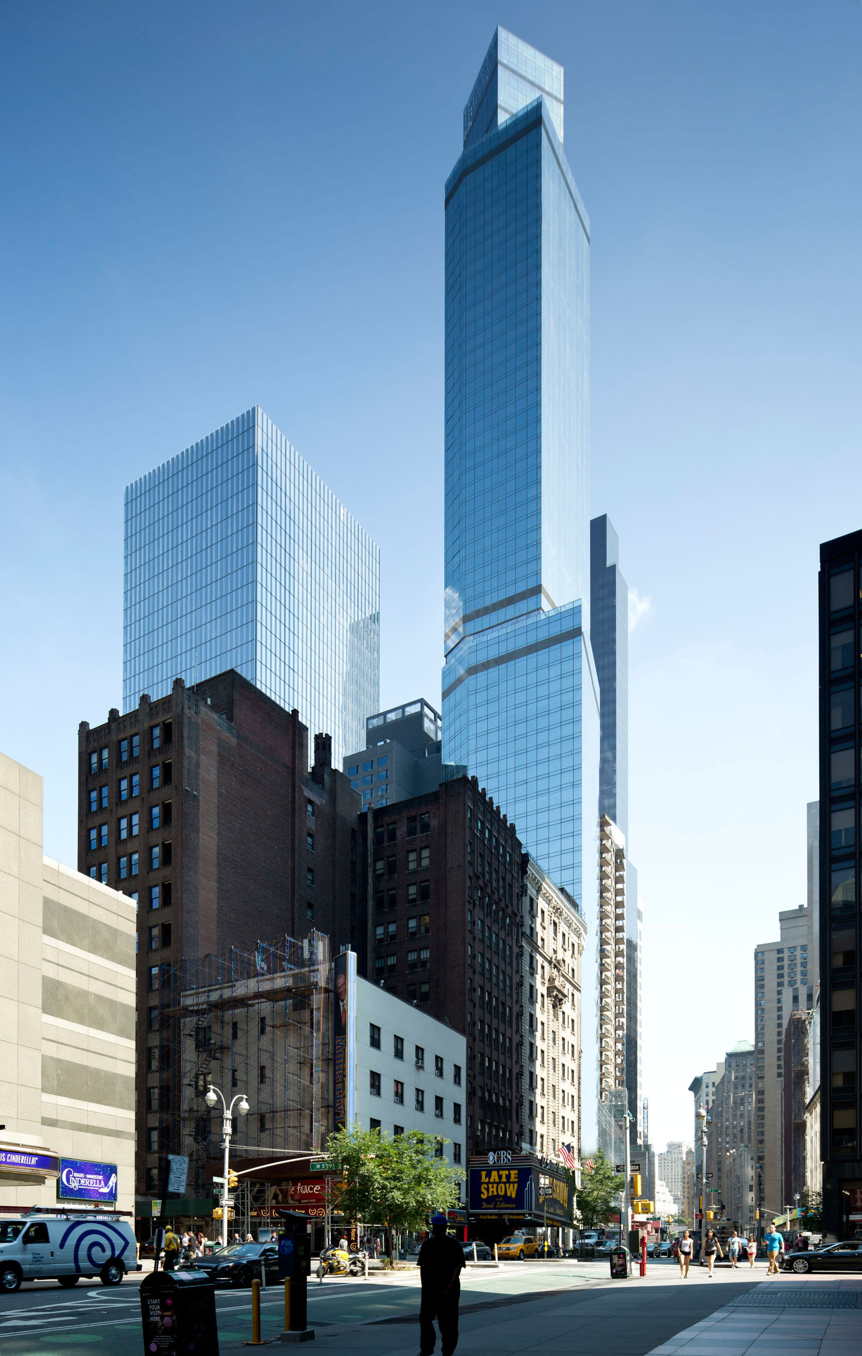 Marriott International, Inc. and G Holdings announce the opening of an iconic addition to the New York City skyline, a combined 378-room Courtyard hotel and 261-suite Residence Inn hotel in Midtown Manhattan.  (PRNewsFoto/Marriott International, Inc.)