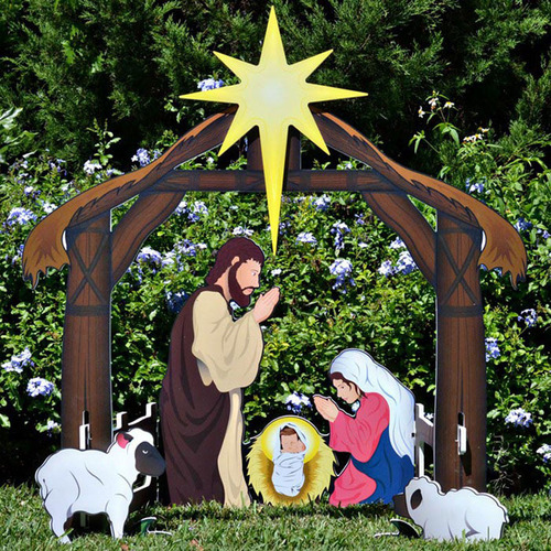 Printed Outdoor Nativity Sets by Teak Isle.  (PRNewsFoto/Outdoor Nativity Sets)
