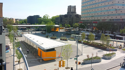 As an agent of the NYC Department of Design and Construction, CH2M managed construction for the design-bid-build initiative to improve the Fordham Plaza intersection, previously called one of New York's most dangerous intersections.