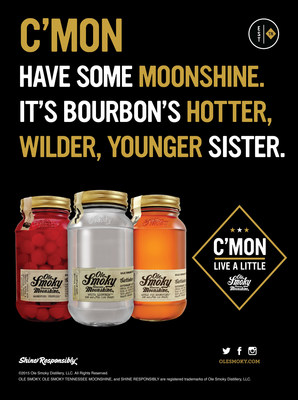 C'mon - have some moonshine. It's bourbon's hotter, wilder, younger sister. www.olesmoky.com