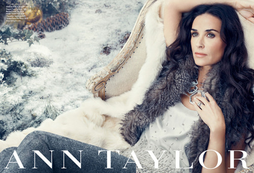 Ann Taylor Announces Demi Moore Returning as the Face of Their Holiday 2011 Campaign