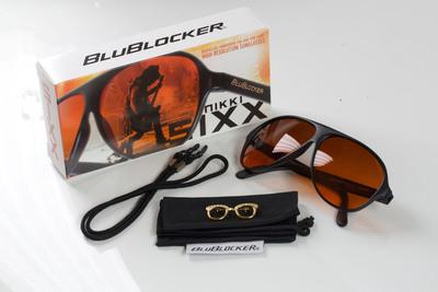 Nikki Sixx teams up with BluBlocker for a Special Nikki Sixx signature pair of shades. (PRNewsFoto/BluBlocker) (PRNewsFoto/BLUBLOCKER)