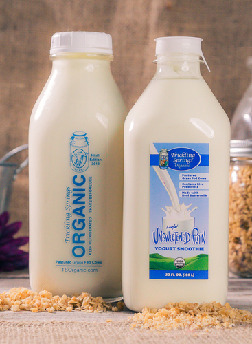 Trickling Springs Creamery's drinkable yogurt, made in small batches from organic, grass-fed milk.  (PRNewsFoto/Trickling Springs Creamery)