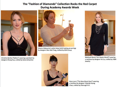 """The """"Fashion of Diamonds"""" Collection Rocks the Red Carpet During Academy Awards Week.  (PRNewsFoto/StyleLab)"""