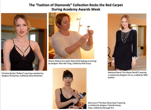 "The ""Fashion of Diamonds"" Collection Rocks the Red Carpet During Academy Awards Week.  ..."
