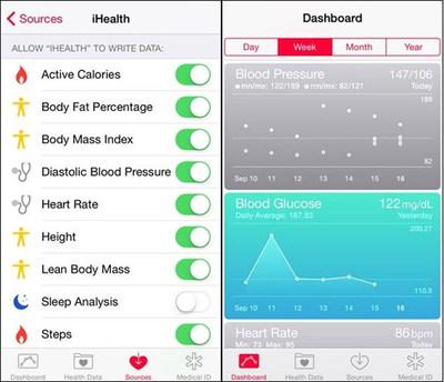 iHealth HealthKit integration screenshots