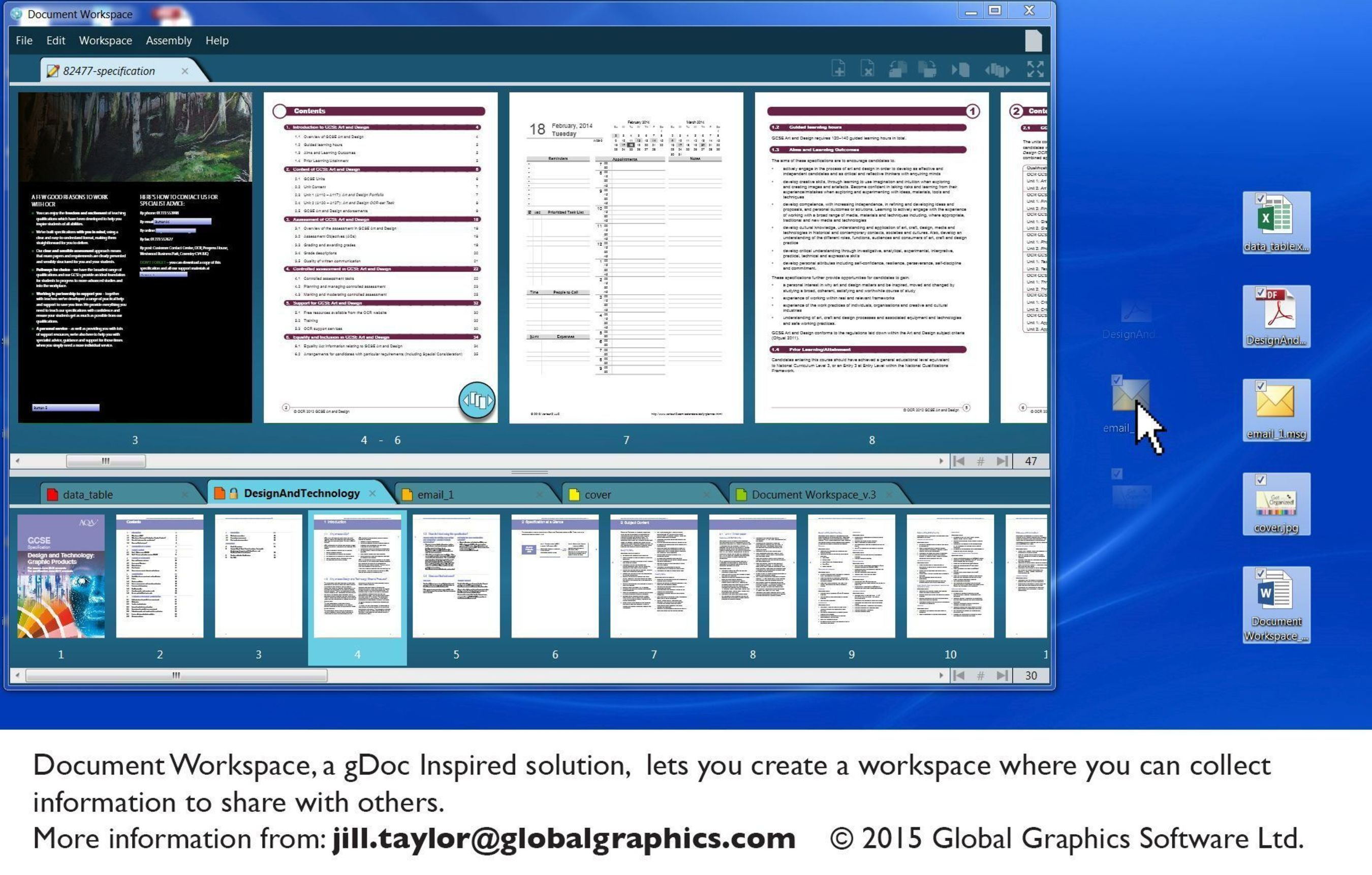 Document Workspace, a gDoc Inspired solution, lets you create a workspace where you can collect information to ...