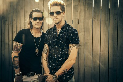 Florida Georgia Line, the mega-popular country music duo of Tyler Hubbard (left) and Brian Kelley (right), will be the featured headliner artists in a special C Spire Live concert on May 14 at the Baptist Health Systems campus in Madison, Mississippi. Photo courtesy of Florida Georgia Line.