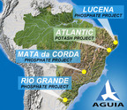 Location of Aguia Projects, Brazil.  (PRNewsFoto/Aguia Resources Limited)