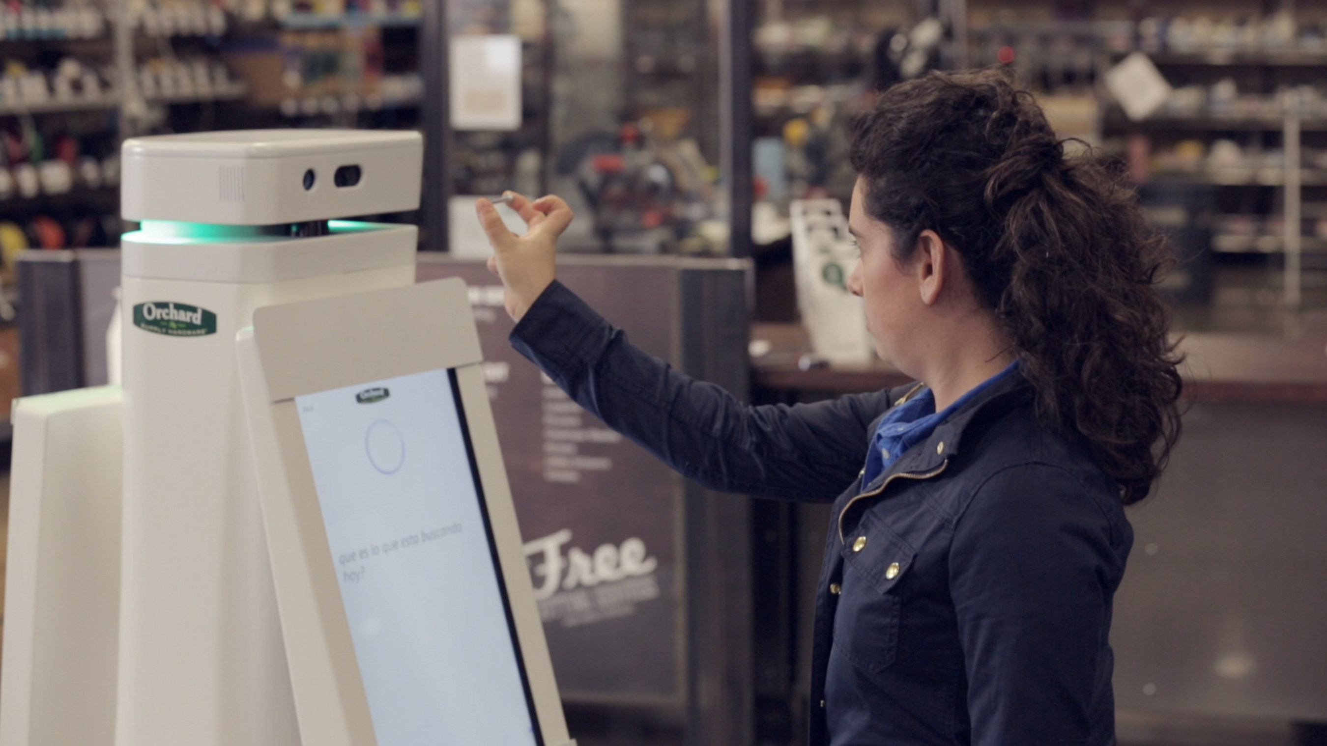 The OSHbot incorporates scanning technology first developed for the Lowe's Holoroom home improvement simulator. For example, a customer may bring in a spare part and scan the object using OSHbot's 3D sensing camera. After scanning and identifying the object, OSHbot will provide product information to the customer and help guide them to its location on store shelves.