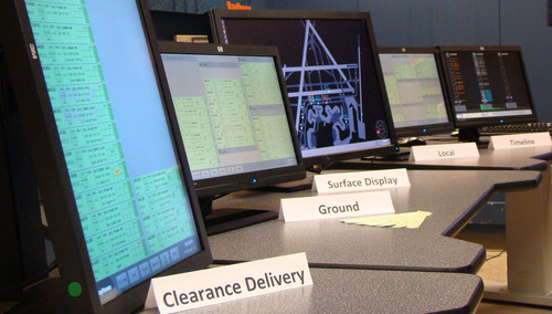 Raytheon TowerTrac Air Traffic Control: TowerTrac's digital flight strips can be accessed by touch screen ...
