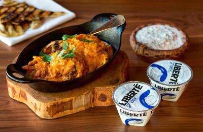 Quail Tikka Masala featuring Liberte Greek Plain yogurt created by James Beard Award winning Chef Vitaly Paley.  (PRNewsFoto/Liberte)