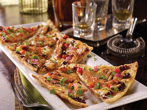 Nine new craveable dishes featuring bold new flavor combinations, like the crispy BBQ Chicken Flatbread ...