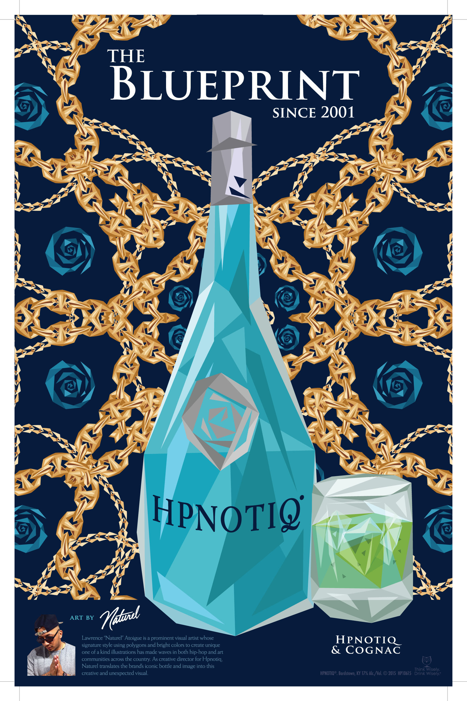 A sample of the Hpnotiq brand's new advertising, created by artist and brand collaborator Naturel.