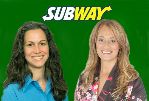 SUBWAY(R) Corporate Dietitian Lanette Kovachi, MS, RD and Carol Kur, MS, RD, co-founder of Personal Training ...