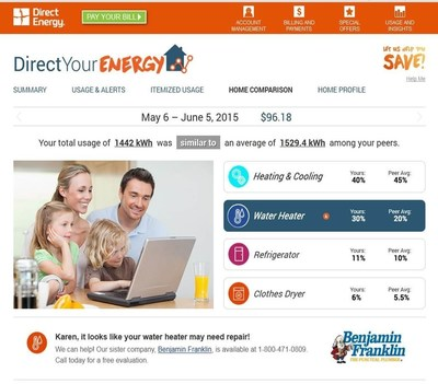 Home comparison feature in Direct Your Energy by Direct Energy