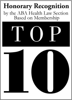 American Bar Association Health Law Section Top 10 Law Firm Recognition Honorees