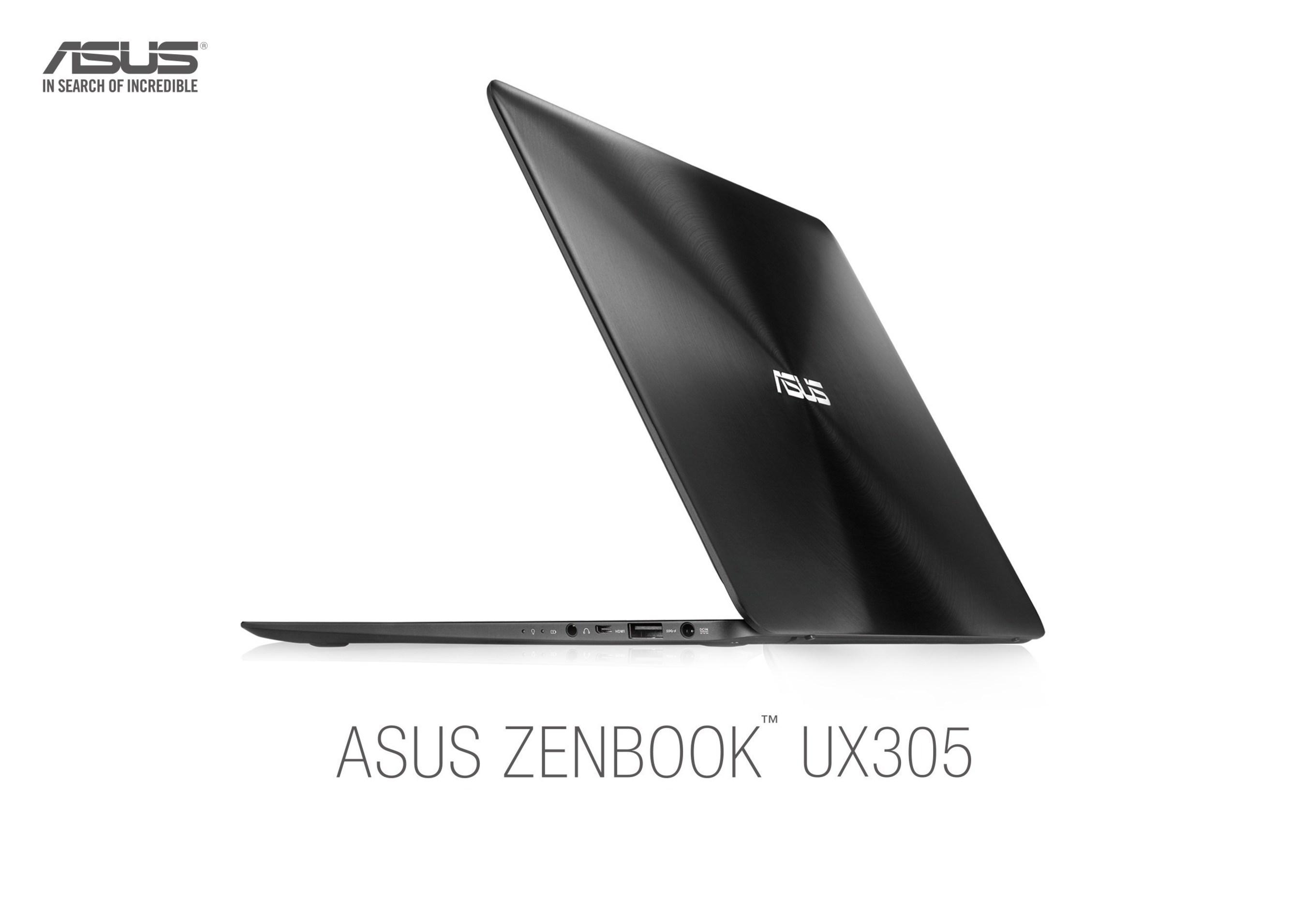 ASUS Announces ZenBook UX305 Ultrabook Starting at $699