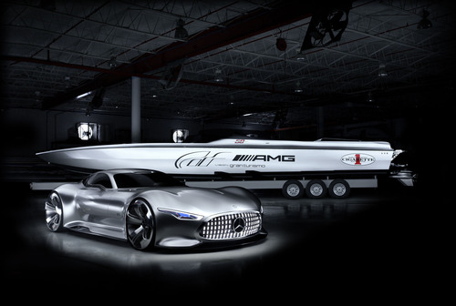 Two visions of design and craftsmanship roar into the Miami International Boat Show: the Mercedes-Benz AMG ...