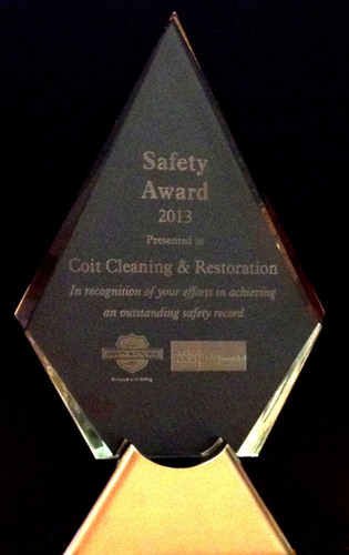 COIT Cleaning and Restoration - 2014 Safety. (PRNewsFoto/COIT Cleaning and Restoration) (PRNewsFoto/COIT ...