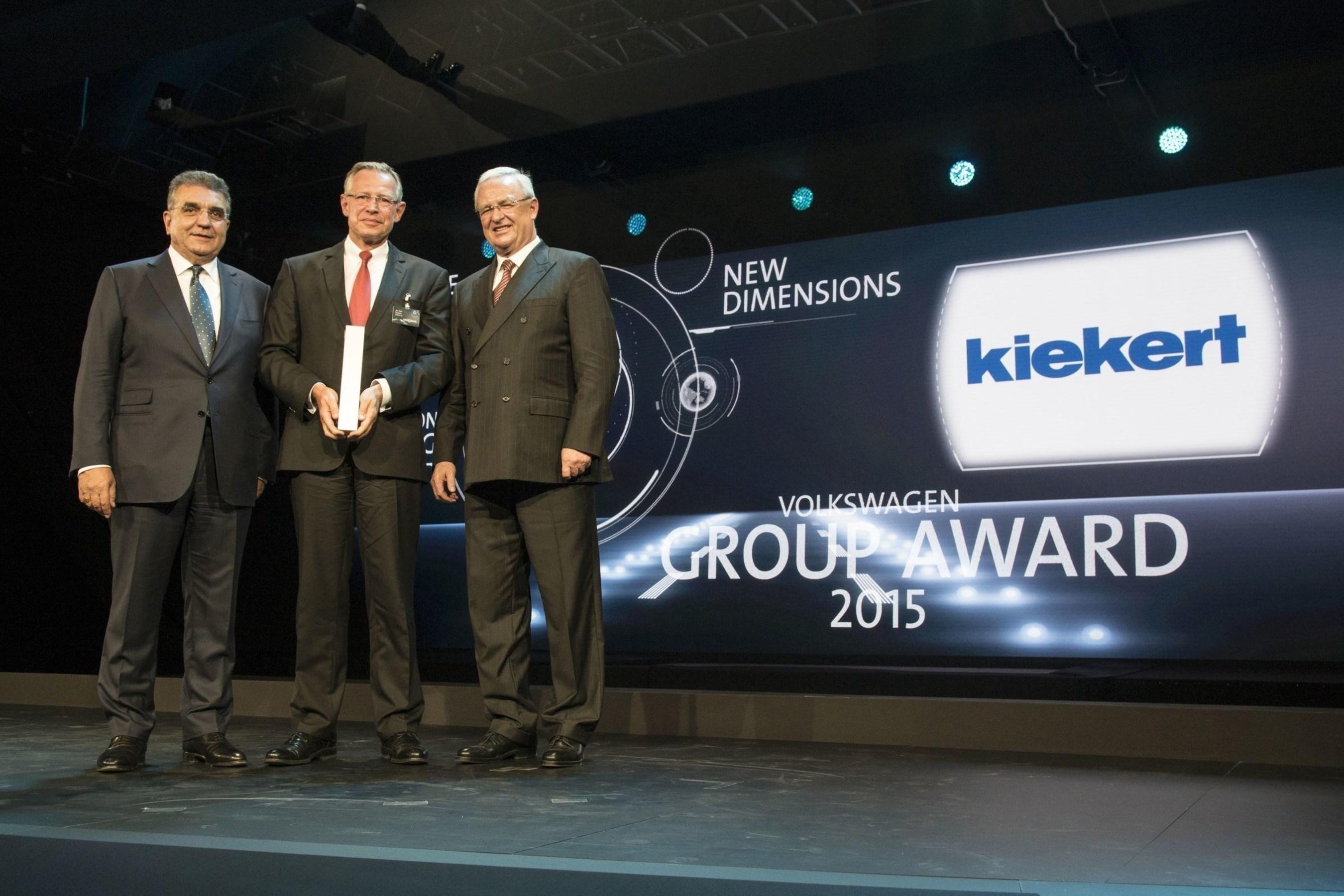 Kiekert gana el 'Premio Grupo Volkswagen 2015' y es reconocido entre los mejores proveedores del