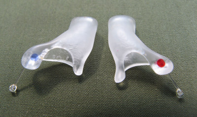 TMJ NextGeneration™ is a first-of-its-kind, FDA cleared medical device that is a safe and effective aid in reducing Temporomandibular Joint Disorder (TMJD) pain.  The device consists of two custom-made, hollow ear canal inserts that allow full passage of sound and are practically invisible from the outside.