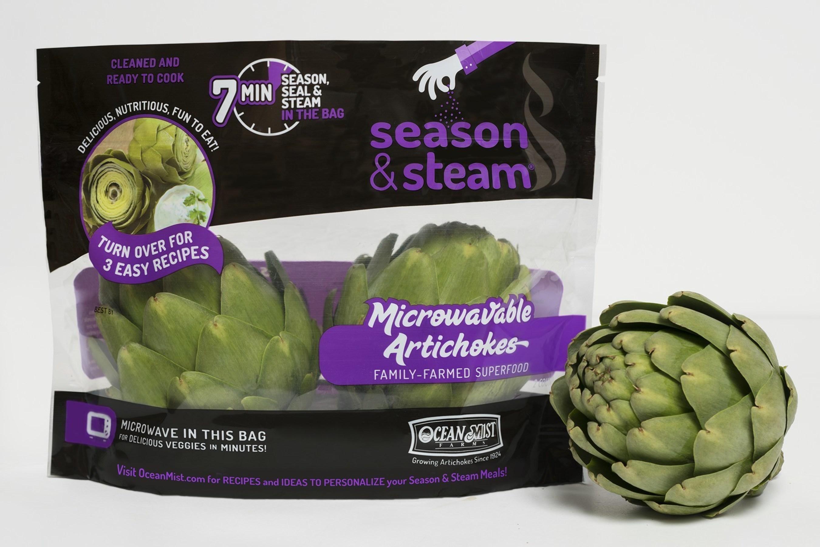 Ocean Mist Farms Season & Steam Microwaveable Artichokes