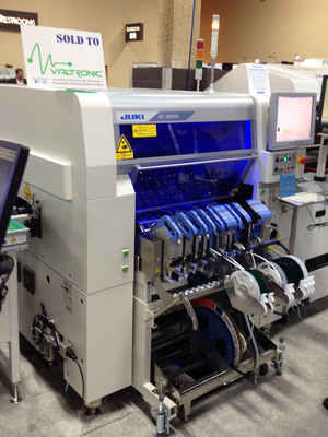 Leading Edge SMT Line - pictured is the JUKI KE3020 flexible placement system.  (PRNewsFoto/Valtronic)