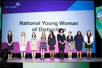 2014 National Young Women of Distinction at Girl Scout Convention